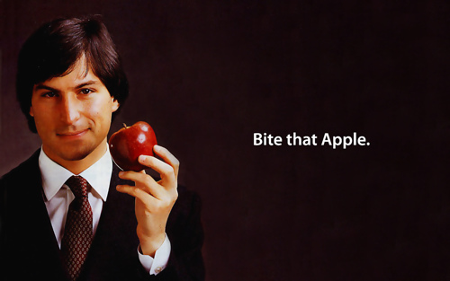 Bite That Apple Steve Jobs Desktop por Sigalakos.