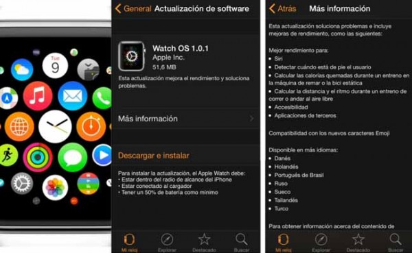 Como actualizar ultima version Apple Watch